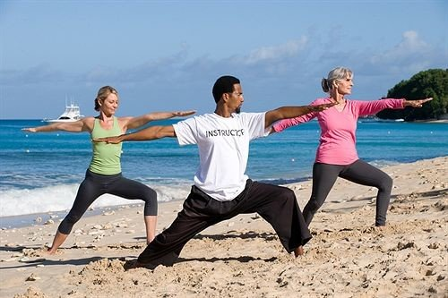 Beach Beachfront Fitness Sport Wellness sky human action sports physical fitness martial arts contact sport yoga physical exercise combat sport sand striking combat sports shore sandy