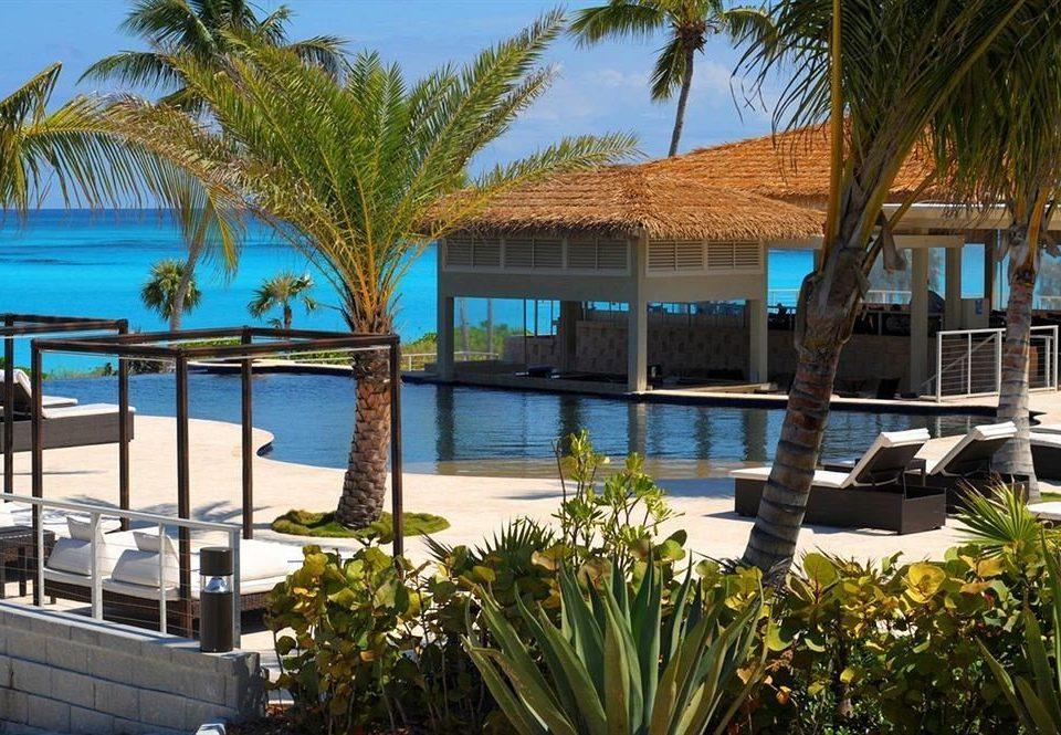 Beach Beachfront Lounge Luxury Ocean tree palm Resort property leisure plant swimming pool condominium arecales home marina Villa dock Pool caribbean Garden shade