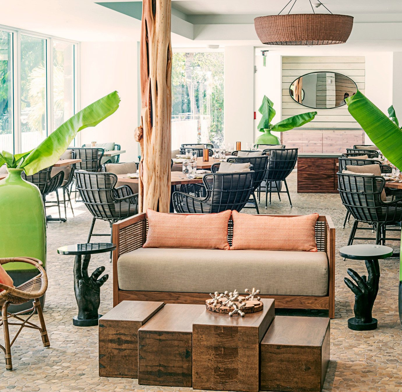 Beach Beachfront Lounge Resort green chair property home living room Lobby leather dining table
