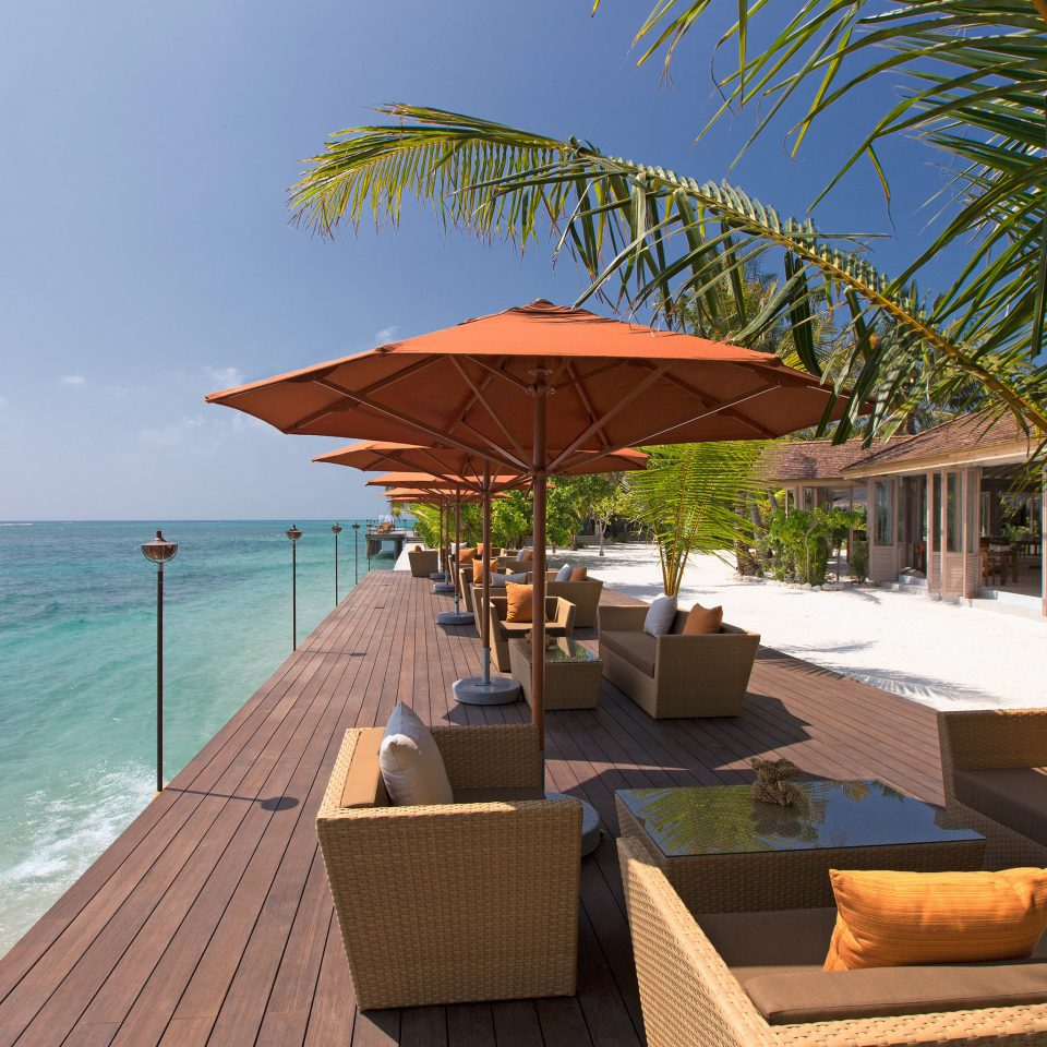 Beach Beachfront Lounge Luxury umbrella tree sky chair leisure property Resort caribbean swimming pool Sea Villa shore set overlooking
