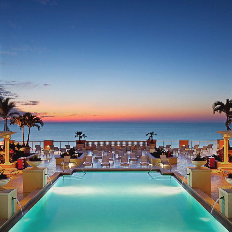 Beachfront Lounge Luxury Modern Pool sky swimming pool leisure Sea Ocean Resort caribbean Beach