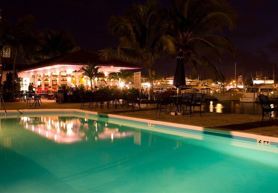 Beach Beachfront Lounge Patio Pool night light swimming pool Resort evening