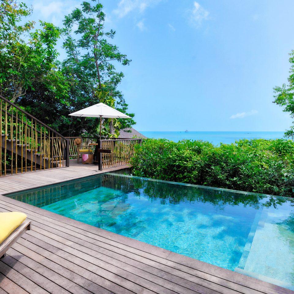 Beach Beachfront Luxury Ocean Pool Romantic tree swimming pool property leisure Resort Villa backyard condominium mansion eco hotel swimming