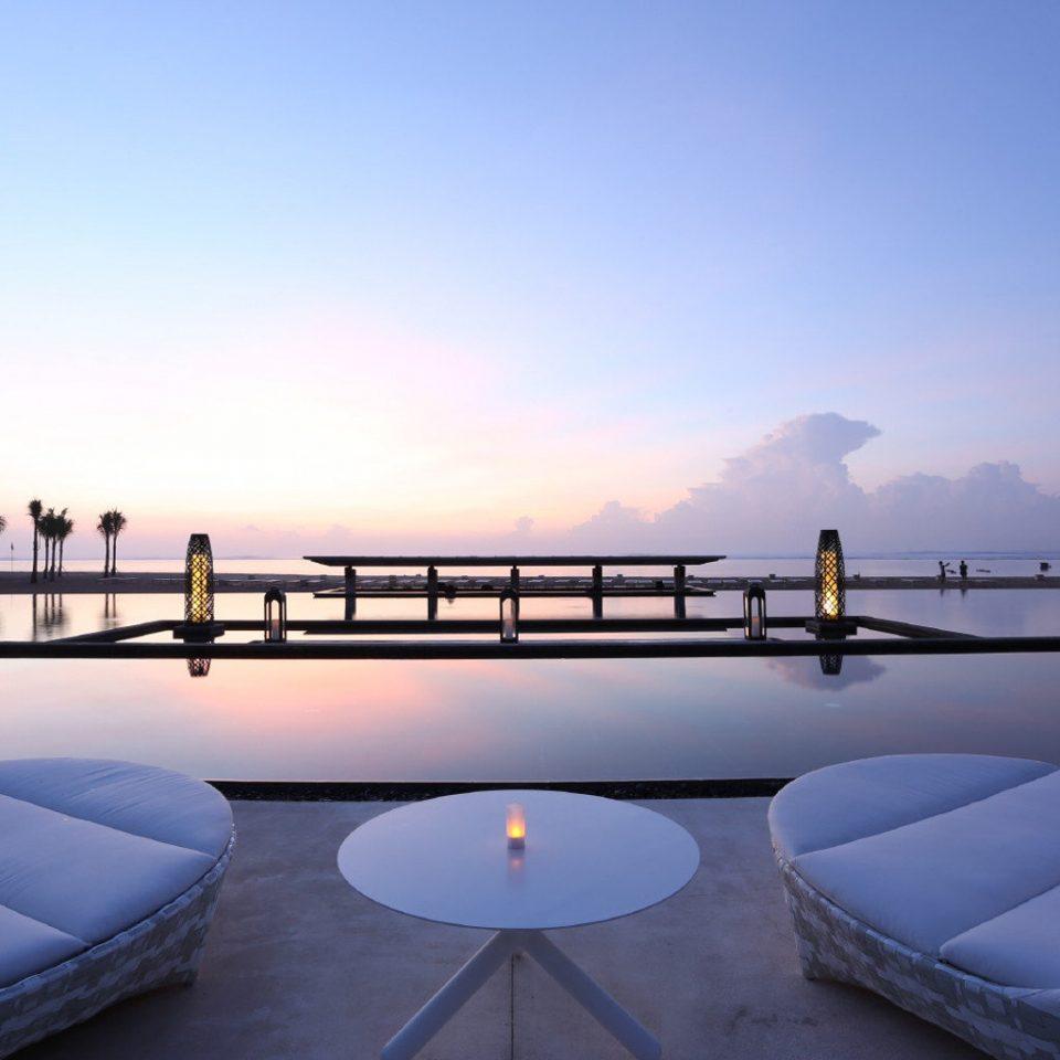 Beach Beachfront Luxury Resort Romantic sky morning evening Sea dusk day