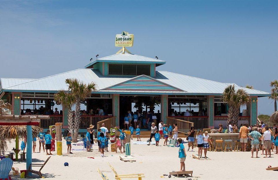 Beach Beachfront sky building leisure amusement park Resort Water park park Nature group boardwalk