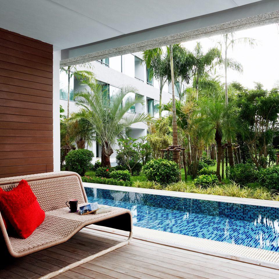 Beach Bedroom Patio Pool Resort swimming pool property condominium house home Villa backyard