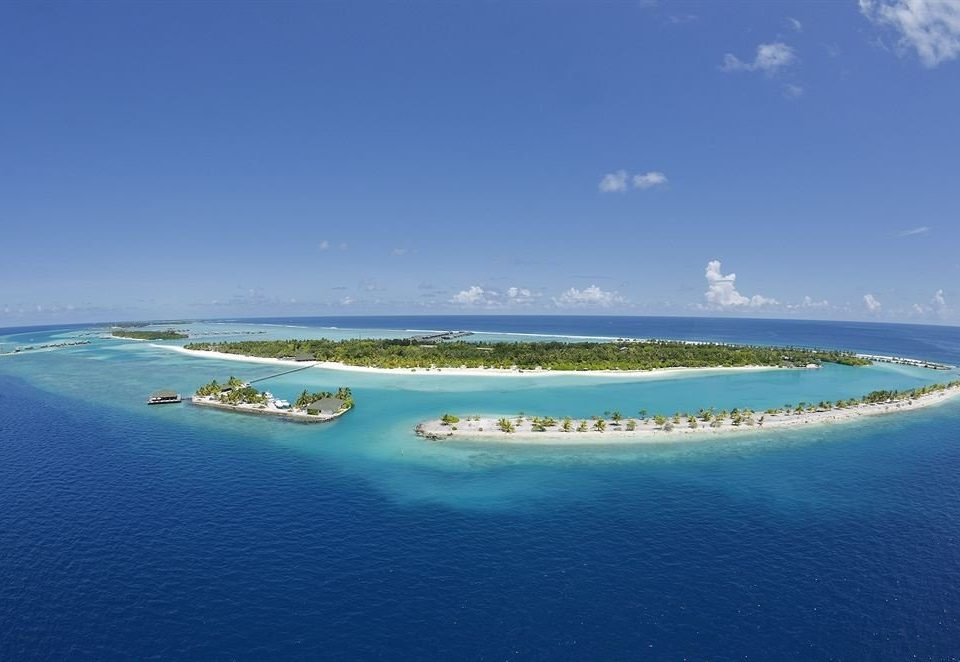 water sky Nature reef Boat Ocean horizon blue Sea atoll islet archipelago shore caribbean Coast Lagoon Island Beach cape Lake swimming pool distance