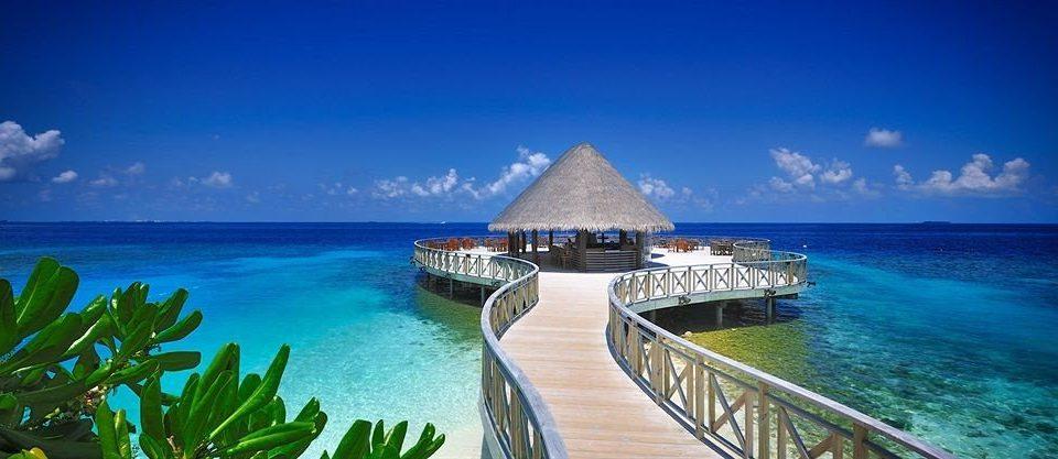 water sky Boat caribbean Ocean Sea Nature horizon Resort Coast Beach Island Lagoon islet cape atoll tropics shore