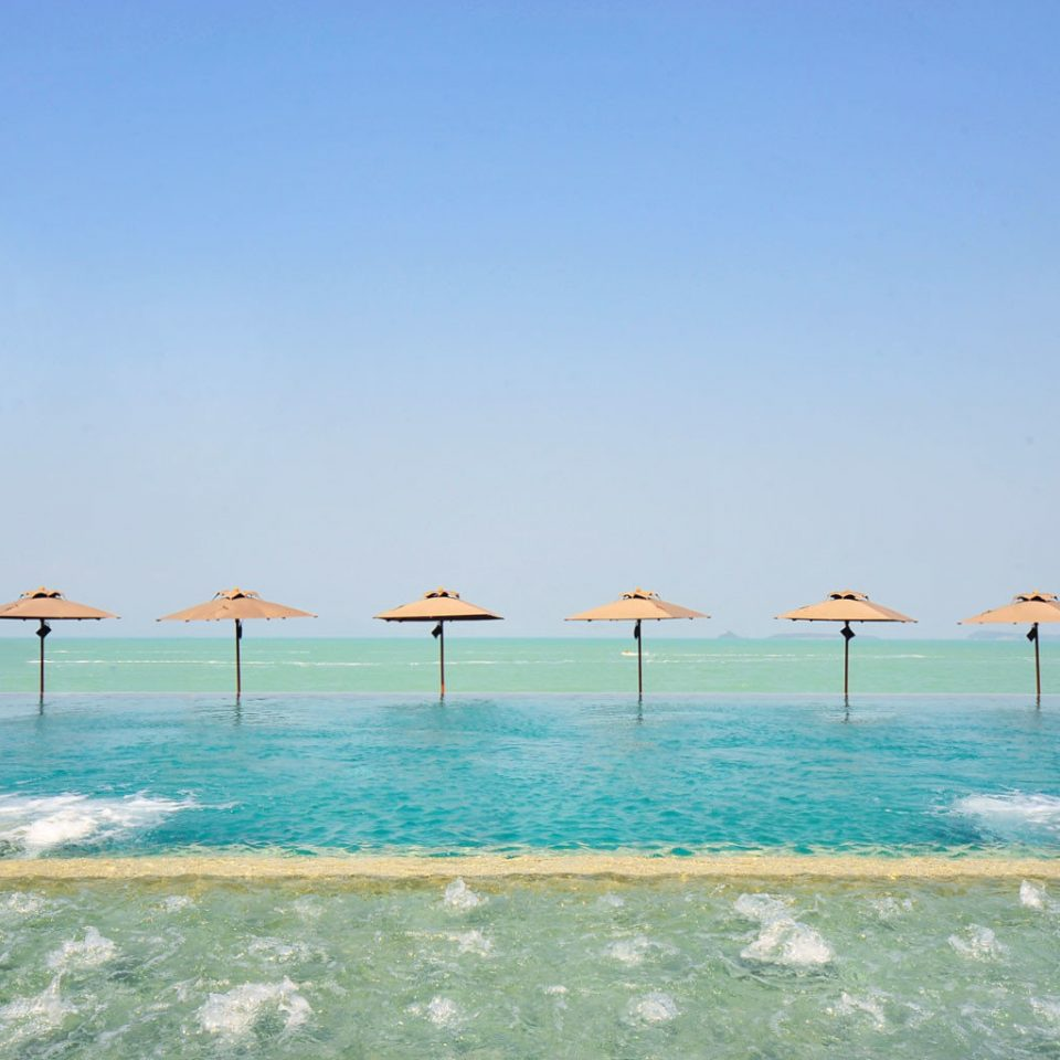 Boat Lounge Modern Ocean Romantic sky water Beach shore Sea horizon Coast Lagoon pier caribbean day sandy