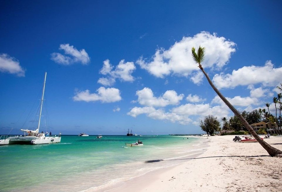 sky Beach Boat Sea shore Ocean Coast caribbean wind wave day