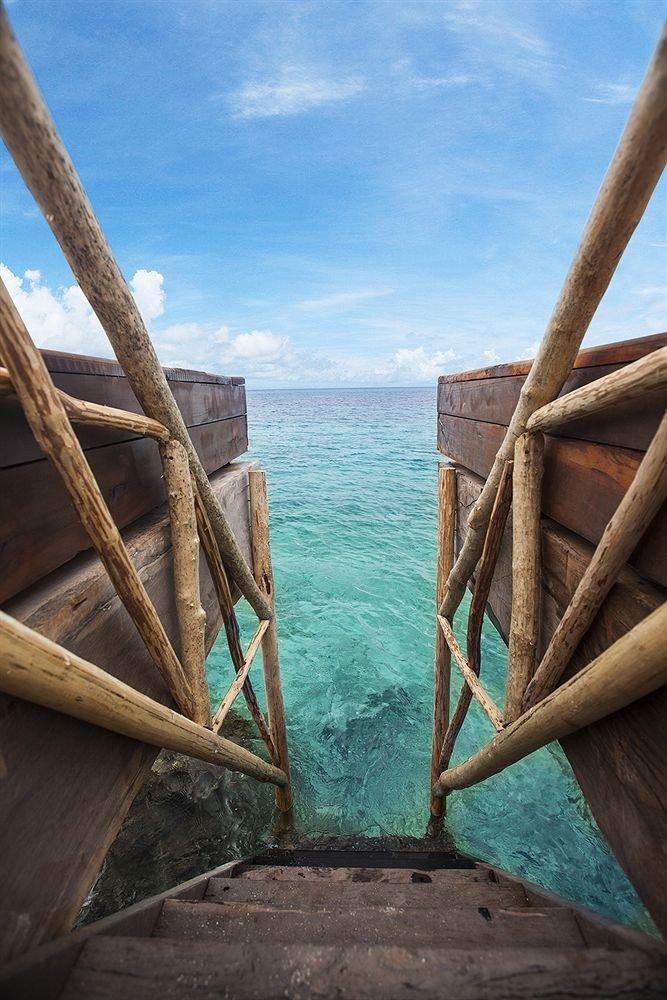 sky blue wooden Sea Ocean Coast Beach Boat