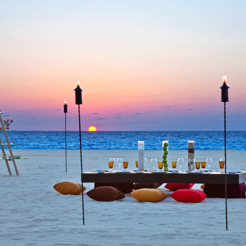 sky water Sea shore Beach horizon Ocean Boat Sunset Coast vehicle morning pier sunrise dusk evening dawn dock wave day