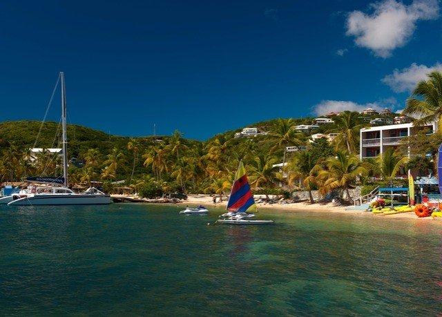 sky Sea Beach vehicle caribbean Boat boating Lagoon marina Island day