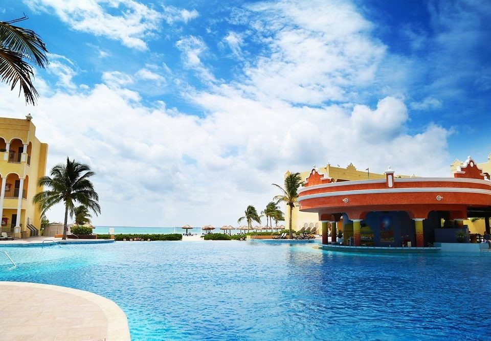 sky water leisure swimming pool Boat Resort Pool Sea caribbean palace Beach Villa swimming