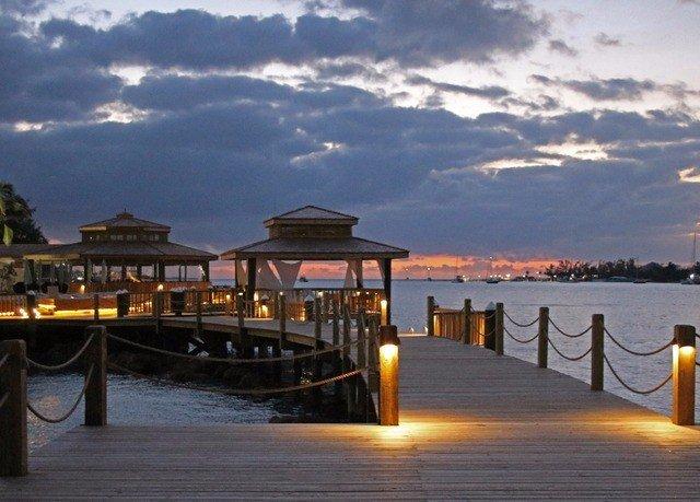 sky water scene Boat pier Sea Resort dock evening Beach dusk Sunset walkway marina overlooking