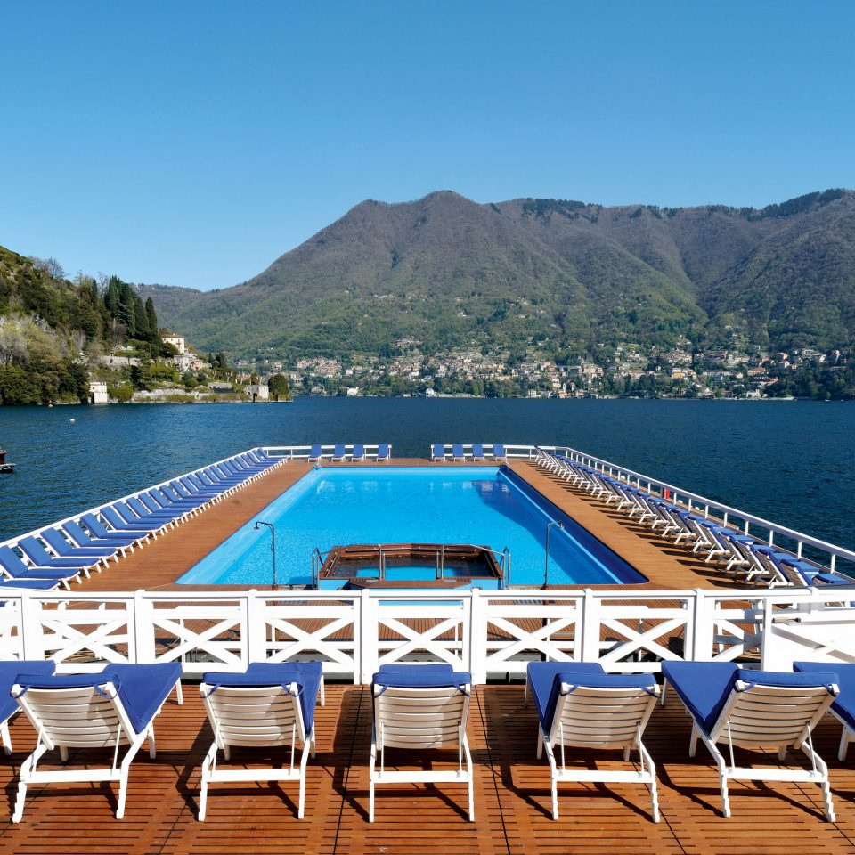 mountain sky chair water ground Beach leisure swimming pool dock Sea marina lined set Boat day
