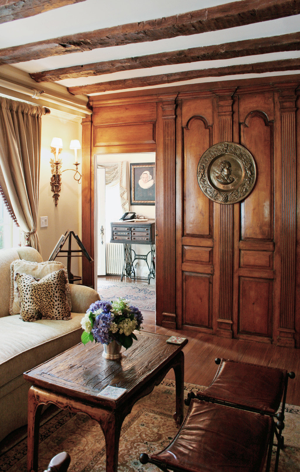 Beach Boutique Historic Inn Romance Romantic living room home hardwood cabinetry wooden mansion