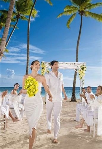 sky tree Beach ground caribbean wedding ceremony bride shore sandy