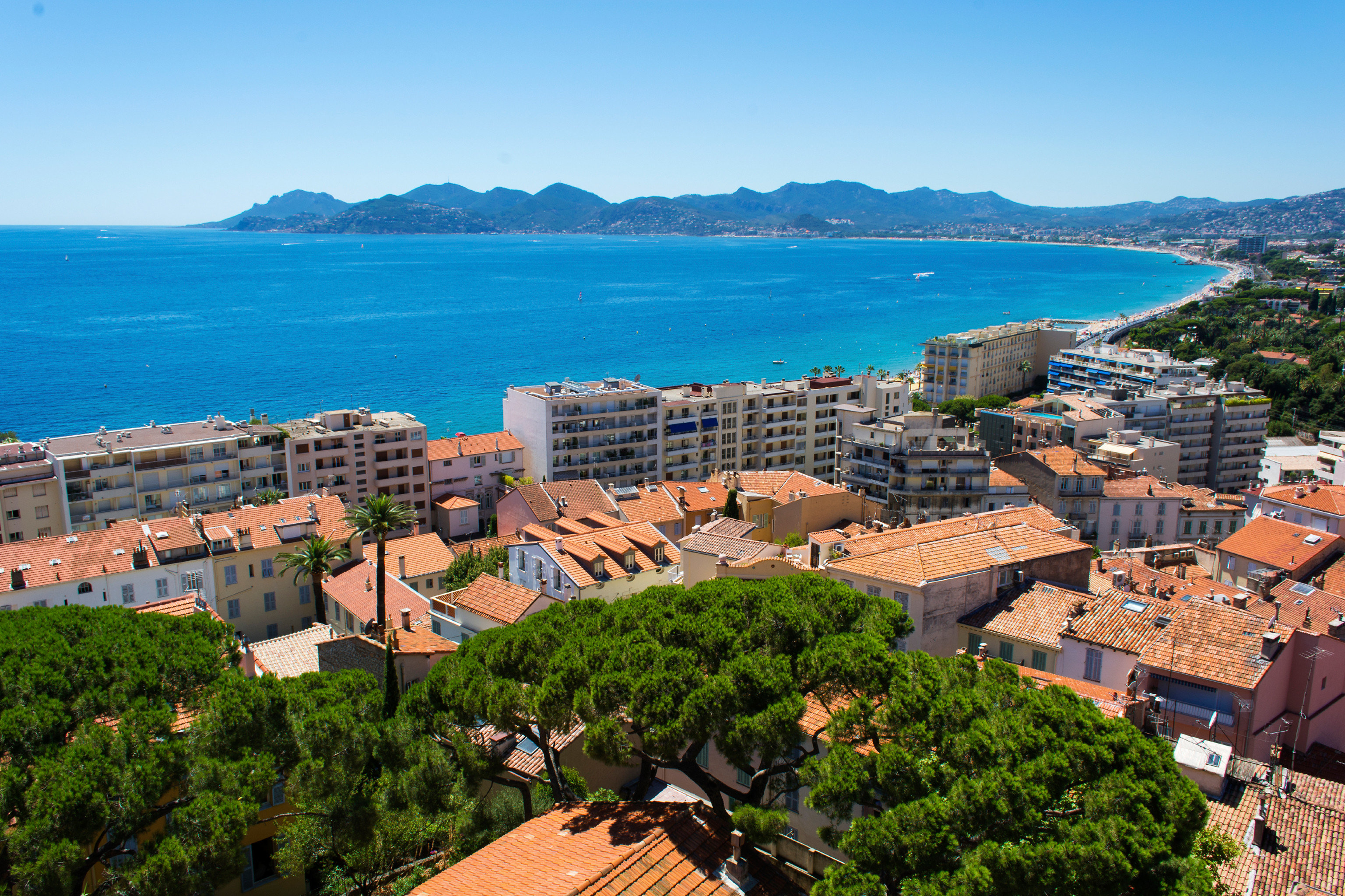 Beach Budget Scenic views sky mountain Town Coast Sea aerial photography overlooking residential area cityscape landscape Village City beautiful roof traveling hillside
