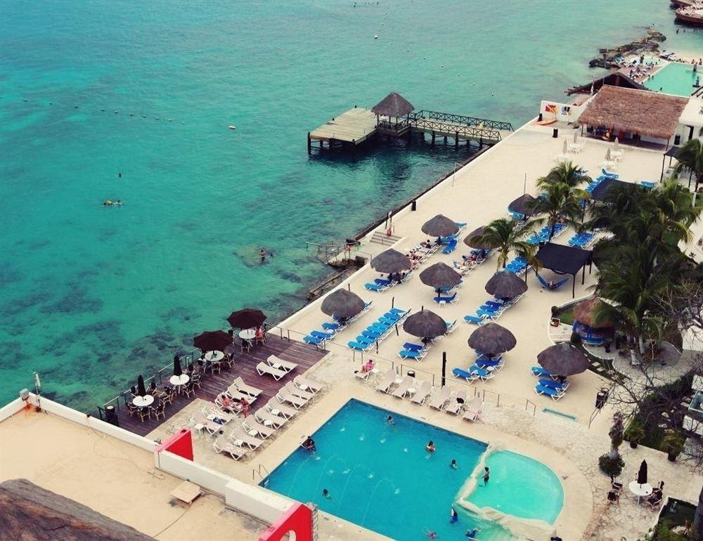 Budget Deck Modern Ocean Pool Tropical Waterfront water leisure Sea Beach caribbean swimming pool Resort Coast marina cape aerial photography vehicle Island Water park shore