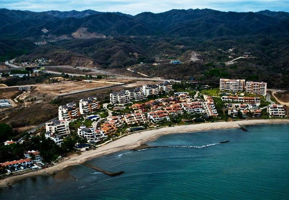 Beach Budget Family Tropical mountain water Nature Town Sea Coast aerial photography cape shore promontory Island lined surrounded