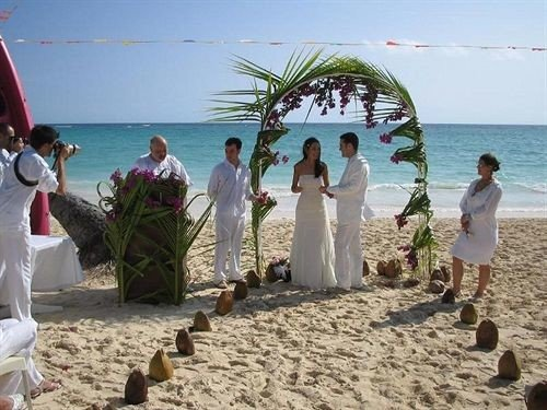 sky Beach water ground ceremony wedding shore sand watching sandy
