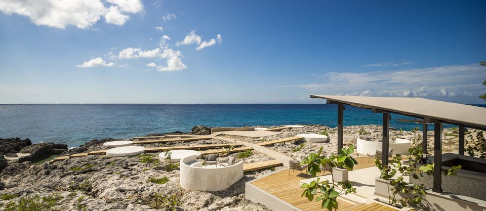 sky property Beach Sea Coast Ocean Resort caribbean Nature Villa cape shore Deck day Island sandy