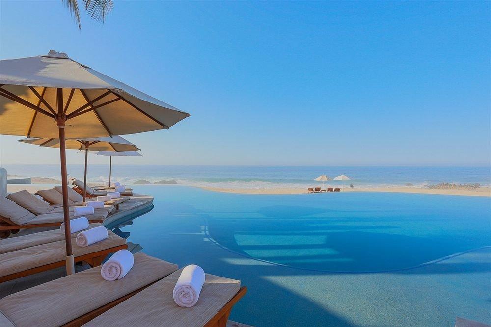 sky water Sea Nature Resort Ocean Beach caribbean Coast Lagoon shore swimming pool overlooking Deck day