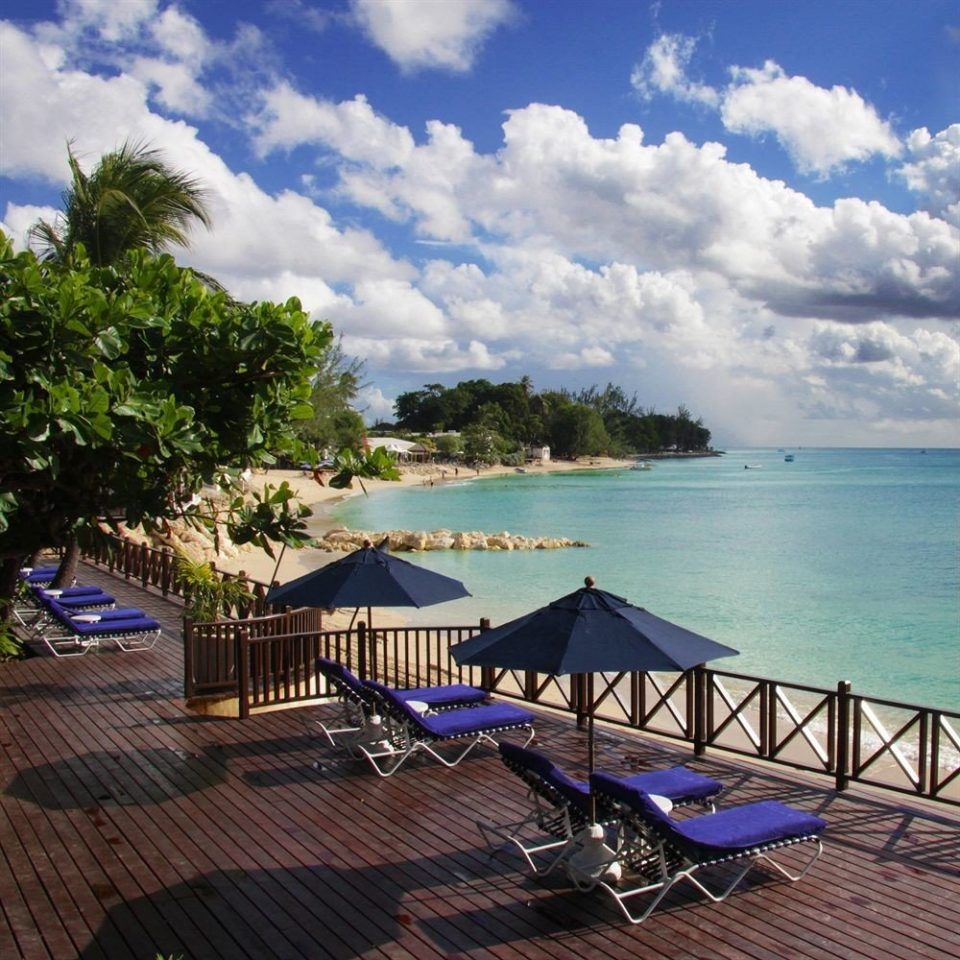 sky water Beach leisure Sea Ocean caribbean Resort swimming pool Coast Lagoon Deck shore lined day
