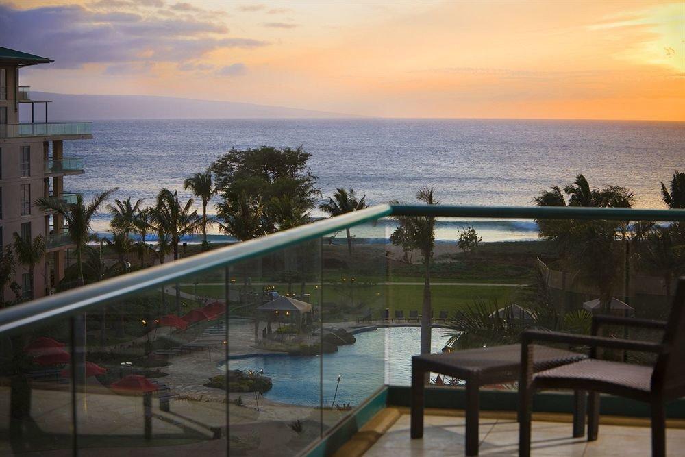 sky water property Ocean Sea Beach Resort Coast overlooking shore Deck