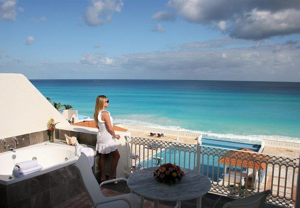 sky water Sea caribbean property Ocean Beach swimming pool Coast Deck Resort Villa shore