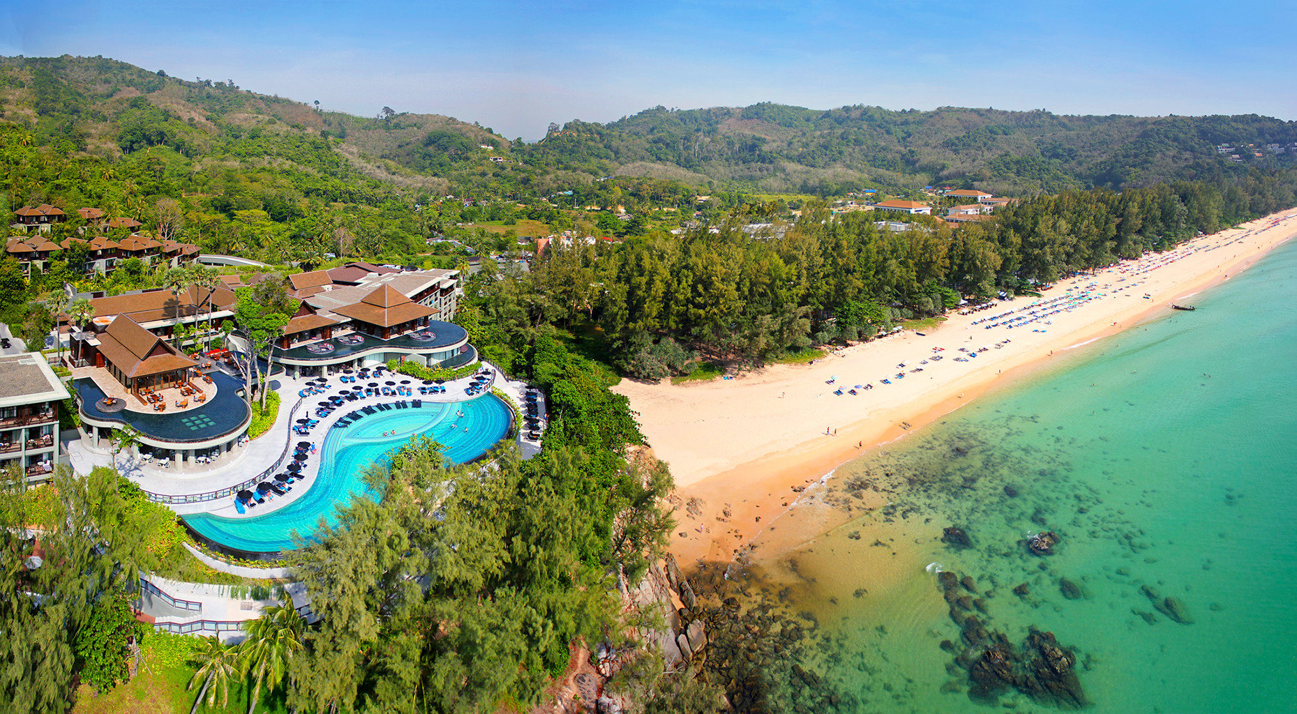 Beach Family Grounds Modern Pool Resort sky tree mountain valley Nature aerial photography canyon Sea Coast