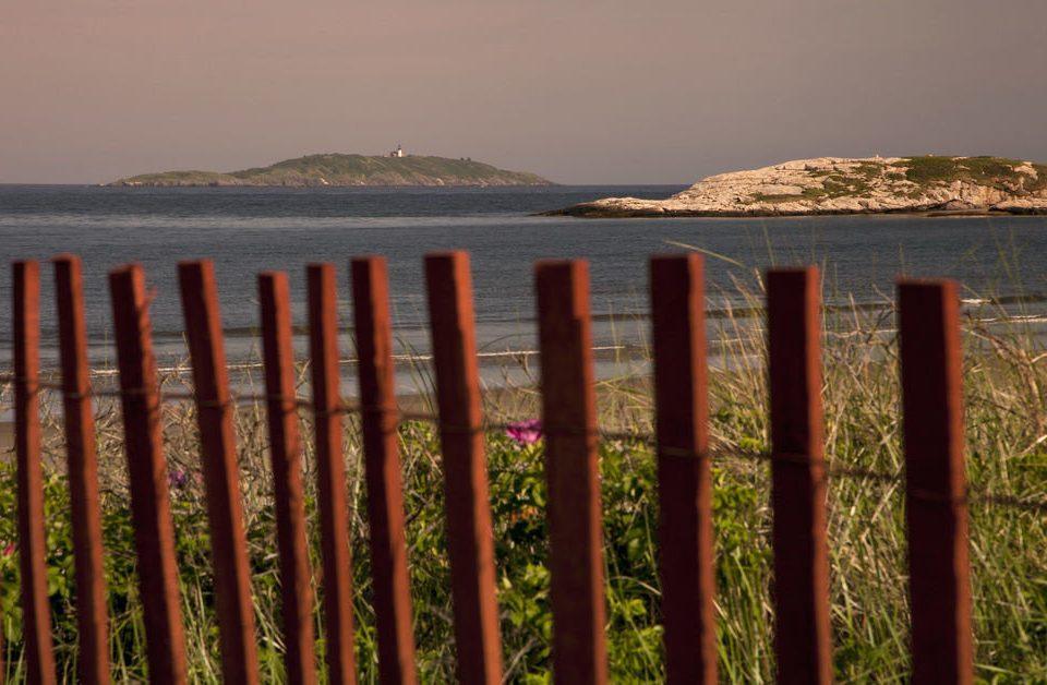 sky Nature Sea Coast shore horizon Ocean morning Beach Fence colored