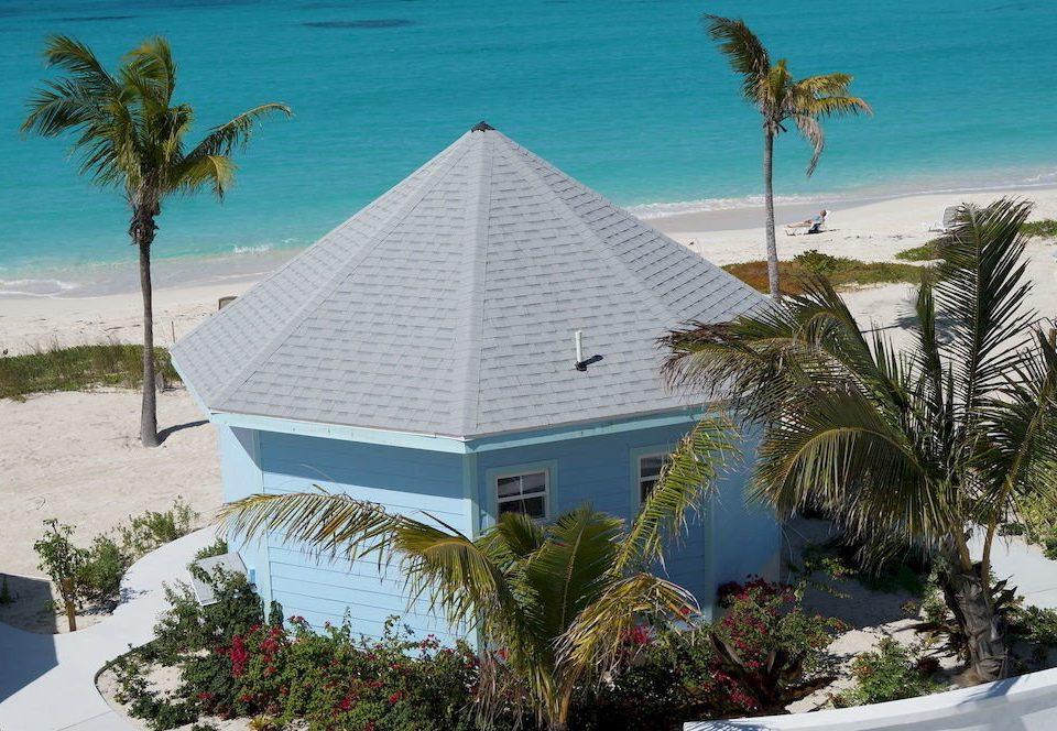 tree palm Beach property Resort caribbean house home arecales Ocean plant Villa Coast Sea tropics Island bushes Garden