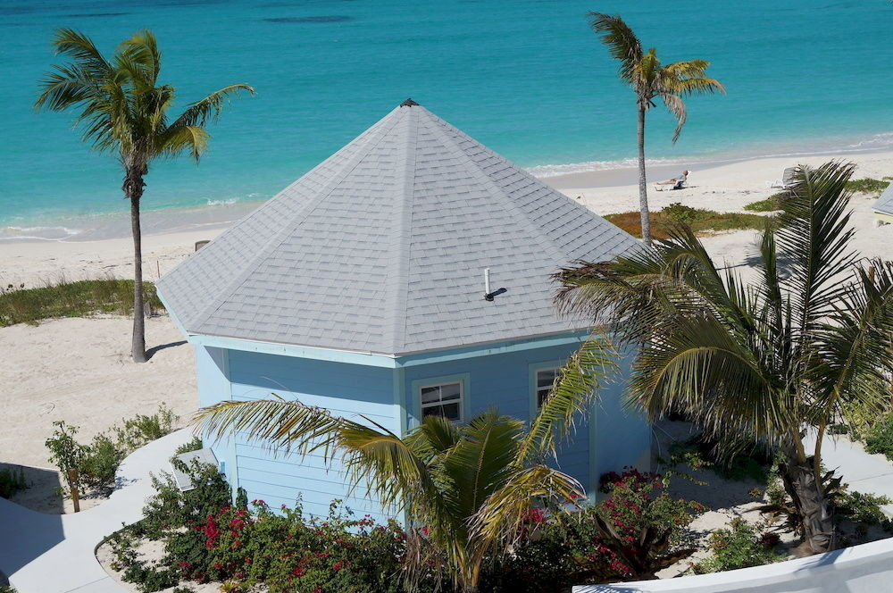 tree palm Beach property Resort caribbean house home arecales Ocean plant Villa Coast Sea tropics Island bushes Garden