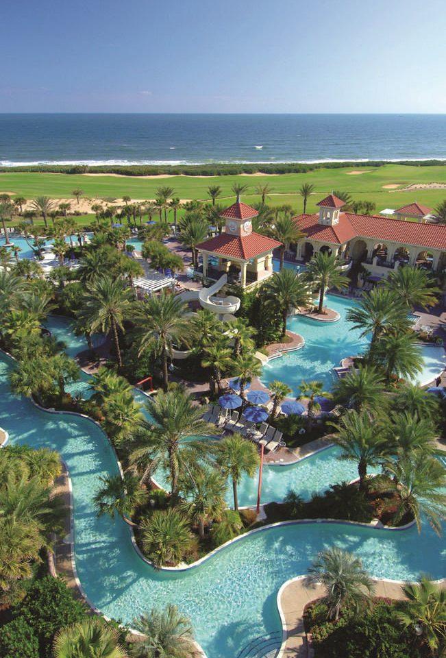 Resort leisure ecosystem Coast Beach Sea swimming pool Lagoon caribbean marina cove reef cape Garden colorful