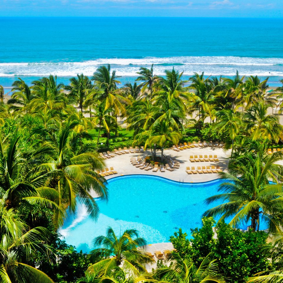 Beach Pool Resort Romantic Tropical Waterfront water tree habitat vegetation Nature caribbean tropics arecales Lagoon Coast Ocean Sea plant Island Jungle swimming pool rainforest islet cape palm family overlooking shore