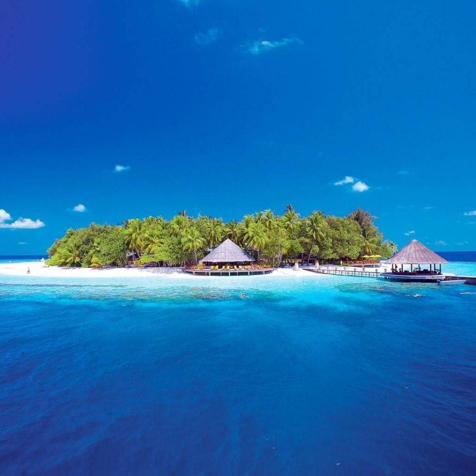 Ocean Outdoors Scenic views water sky blue Nature Sea reef caribbean horizon archipelago islet Beach Coast Island atoll Lagoon cape tropics shore swimming