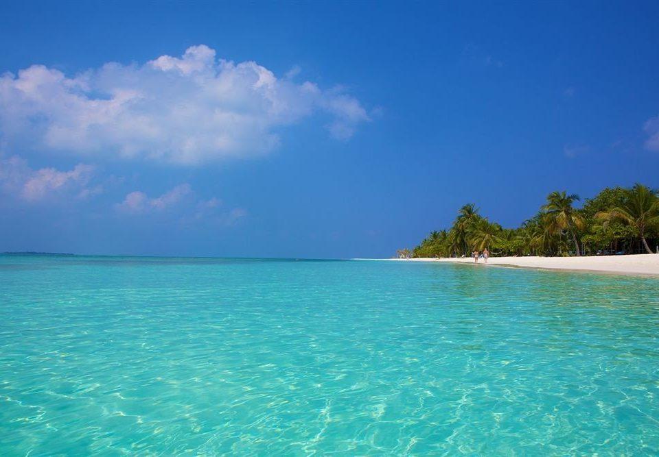water sky Sea caribbean horizon Nature Ocean Beach Lagoon Island islet blue Coast tropics cape reef archipelago cay atoll shore swimming day