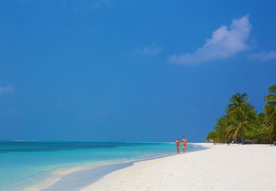 sky water Beach Nature Sea shore Ocean horizon caribbean Coast blue Island Lagoon sand cape tropics sandy