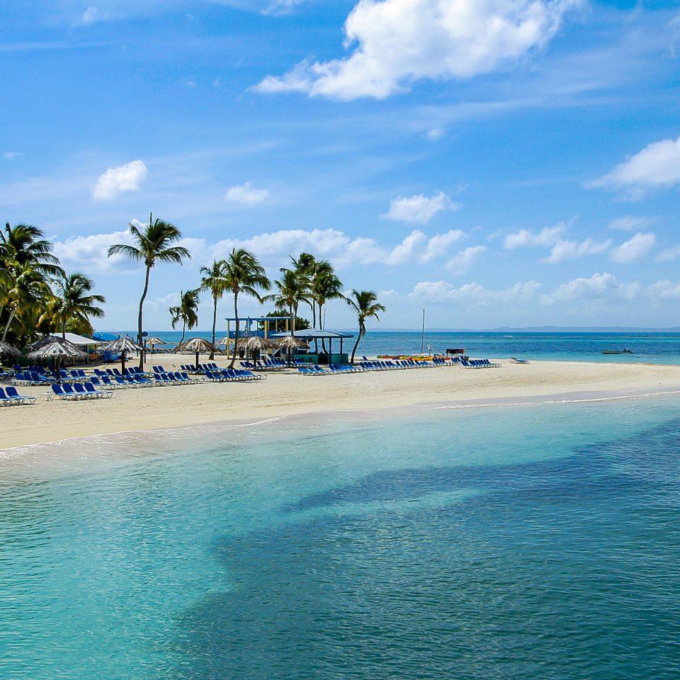 water sky Nature Beach Sea Ocean caribbean horizon shore reef Coast islet Island swimming cape tropics wind wave Lagoon day sandy
