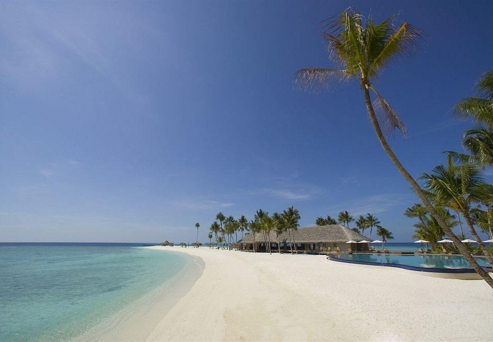 sky water Beach Nature shore Sea Coast Ocean horizon caribbean arecales sand Island tropics cape Lagoon walkway