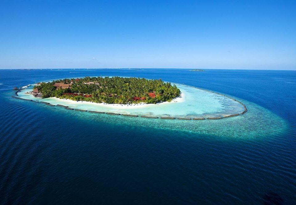 water sky Nature reef Sea archipelago horizon Ocean Coast Beach islet shore caribbean Island cape Lagoon atoll cove terrain tropics blue distance