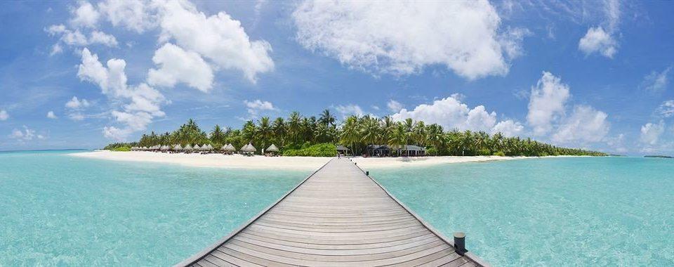 sky water caribbean Sea Beach Ocean horizon shore Island Coast Lagoon swimming pool Nature atoll Resort islet reef