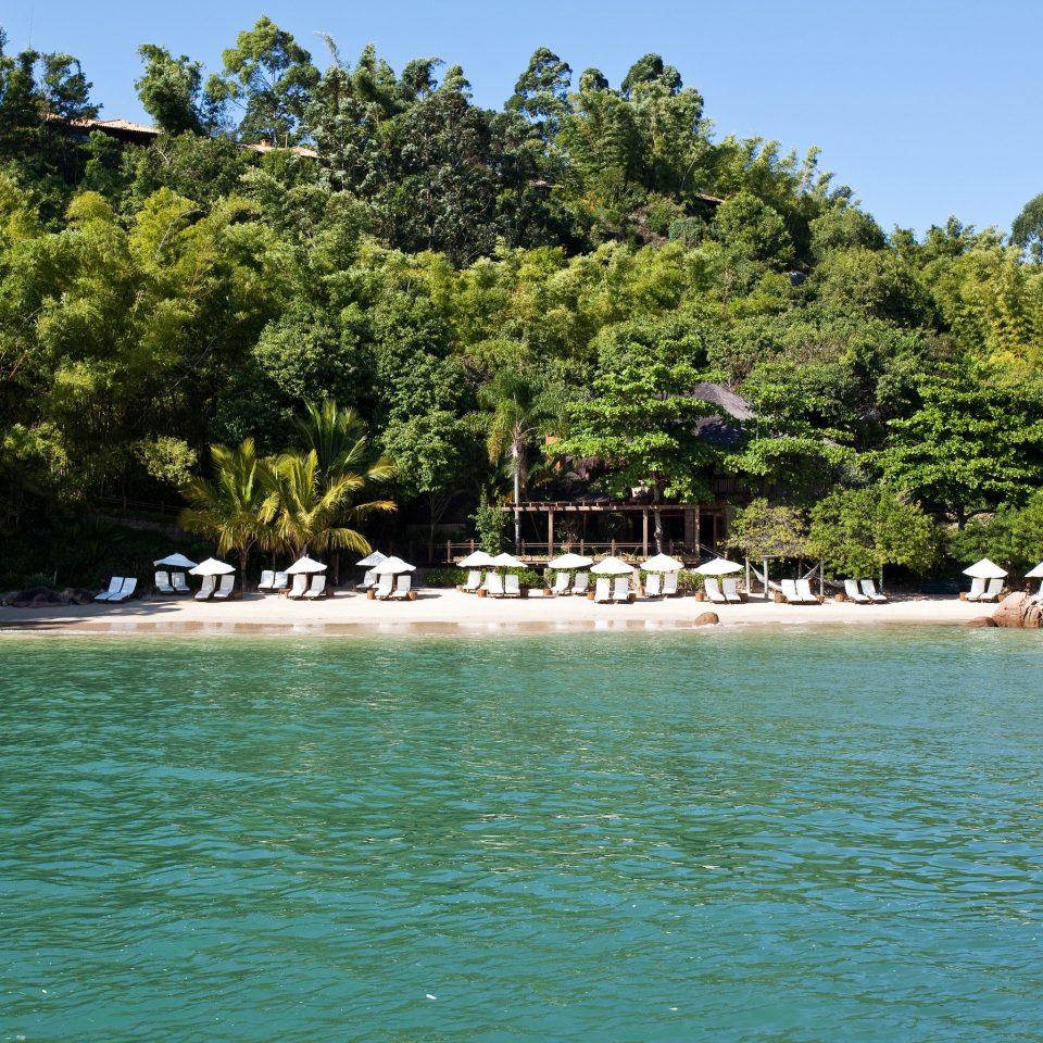 tree water sky Nature Lake Sea shore Beach Lagoon Island tropics cove Coast islet reef surrounded swimming day