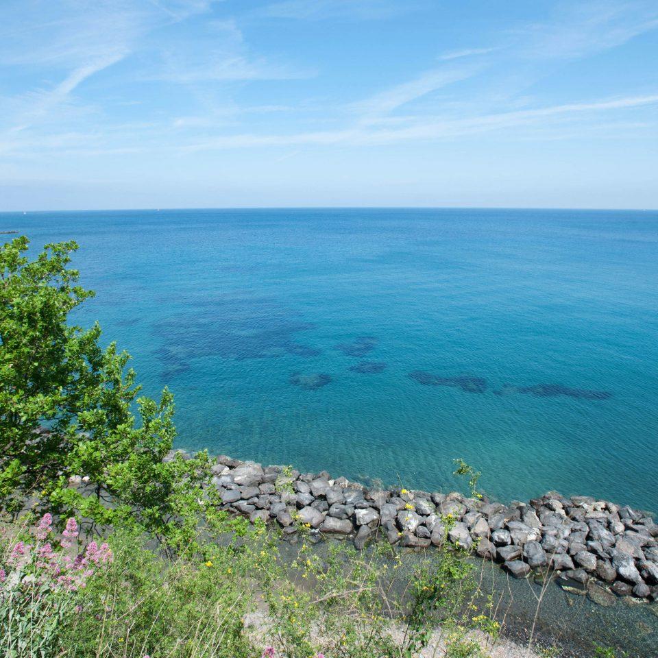 water sky Sea shore Coast horizon Ocean Nature archipelago islet cape Island cliff Beach Lagoon terrain cove overlooking