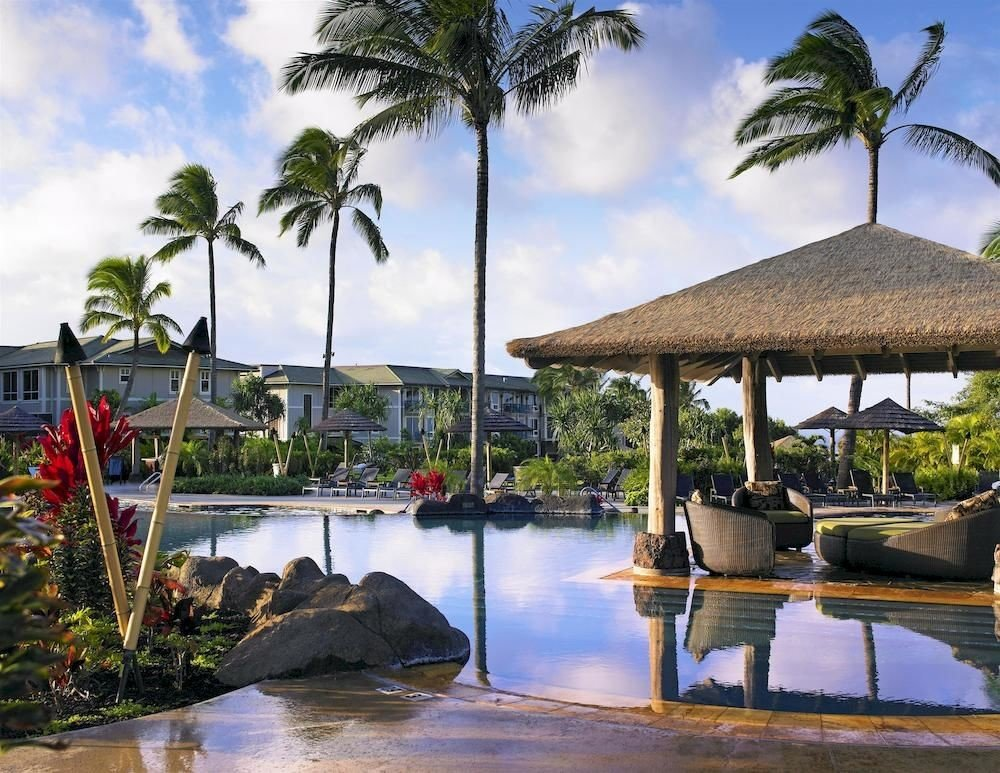sky tree water Resort Beach arecales Sea Ocean tropics caribbean Coast Lagoon swimming pool palm family travel plant lined shore Island