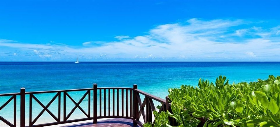 water sky shore Ocean caribbean horizon Sea Coast Beach Island overlooking Lagoon Resort