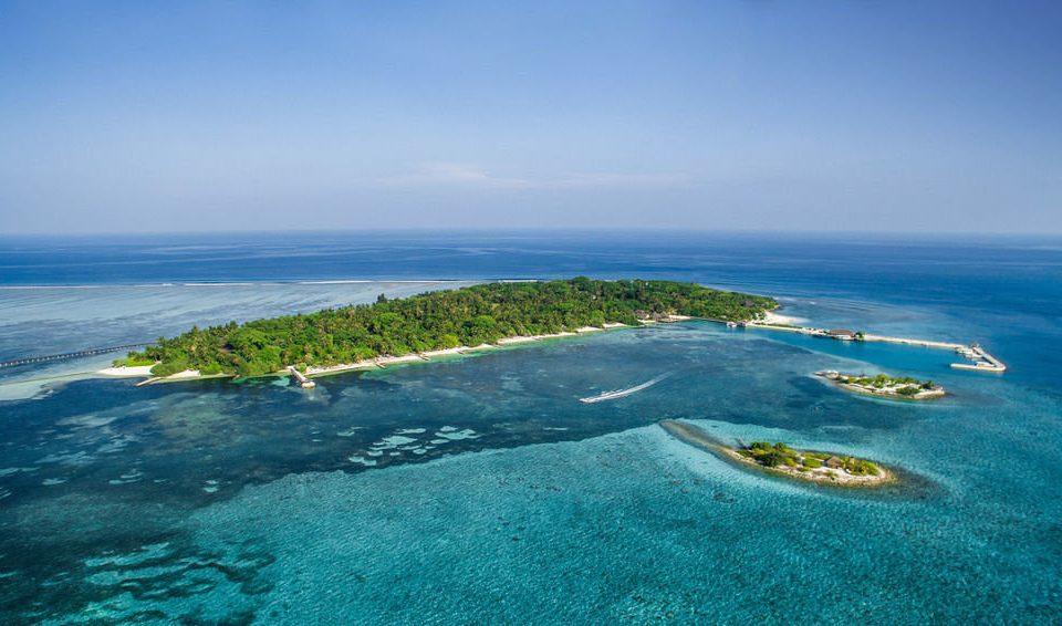 sky water Nature reef Sea archipelago Coast Ocean shore horizon islet Beach Island wind wave cape caribbean wave aerial photography terrain cove Lagoon atoll cliff promontory