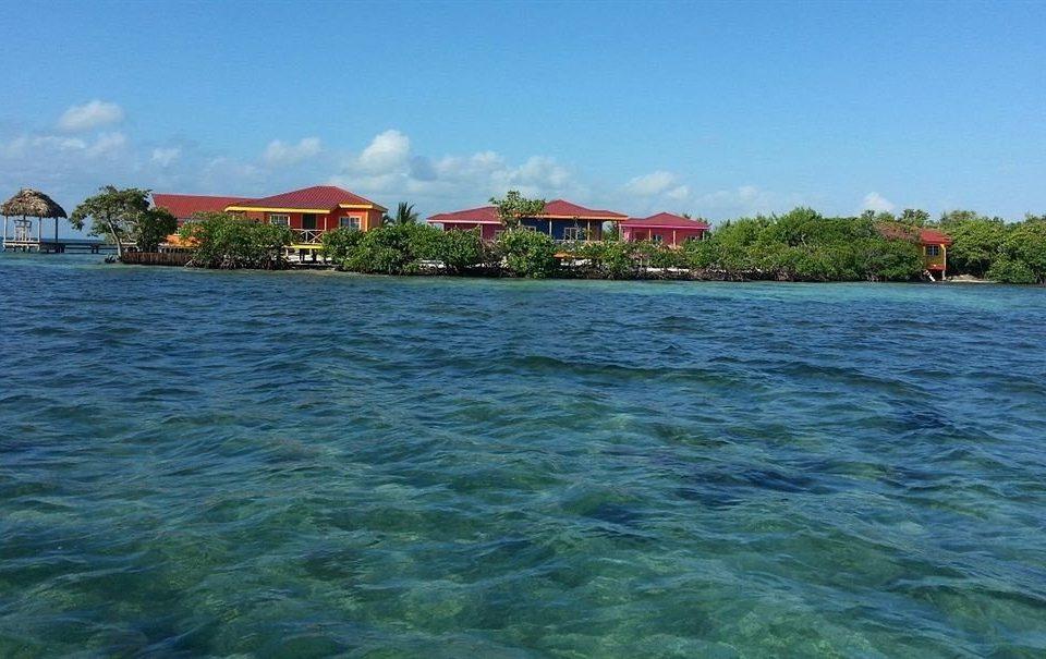 sky water shore Sea Coast Beach Island inlet cove archipelago Lagoon caribbean day
